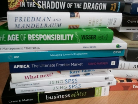 GIBS students find these titles from the UP, Merenksy library catalogue