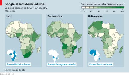 Google search term volumes